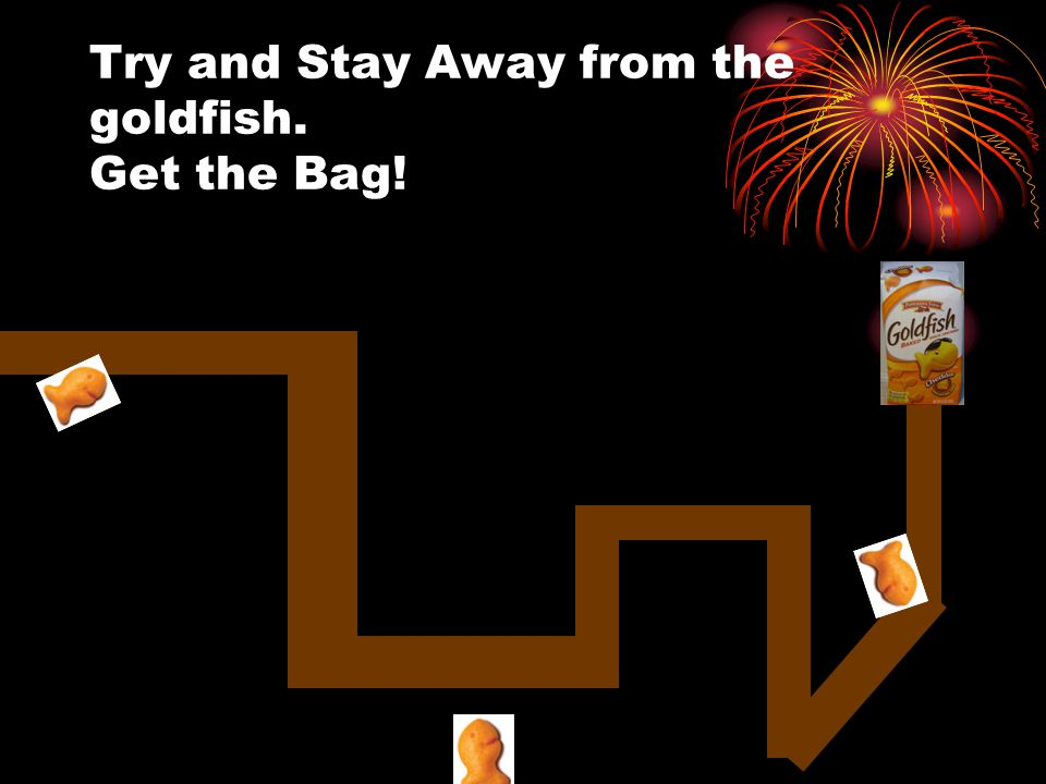 Try and Stay Away from the goldfish. Get the Bag!