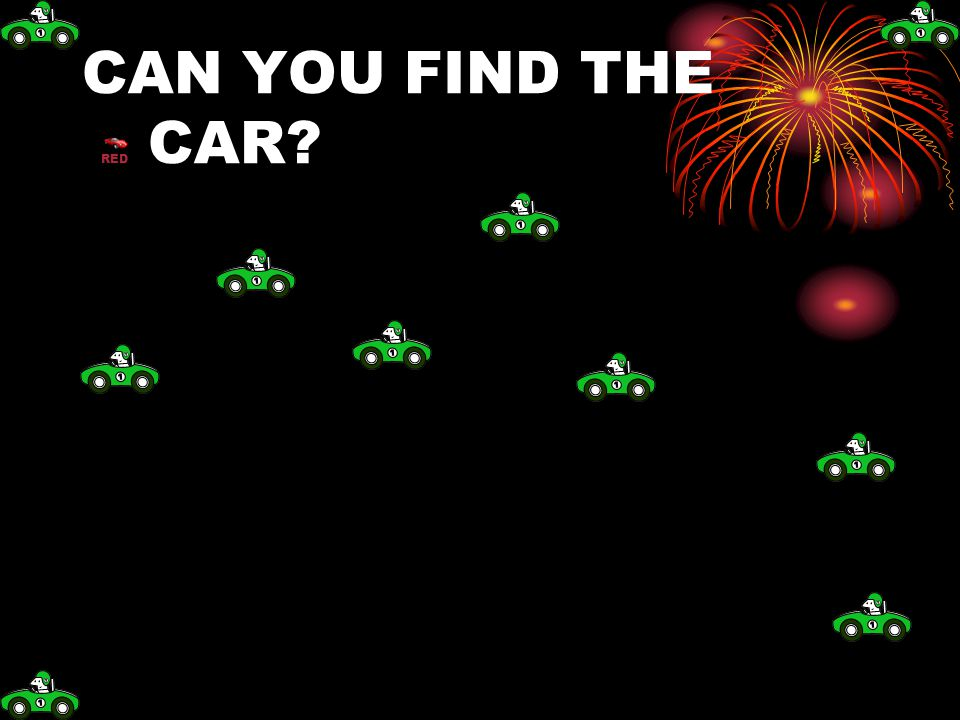 CAN YOU FIND THE RED CAR