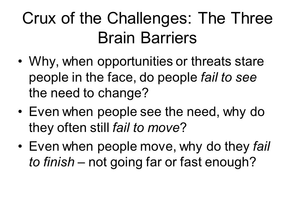 Crux of the Challenges: The Three Brain Barriers