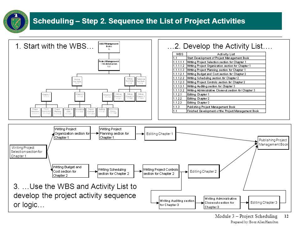 Scheduling - Step 3. Determine the Relationship Between Project Activities