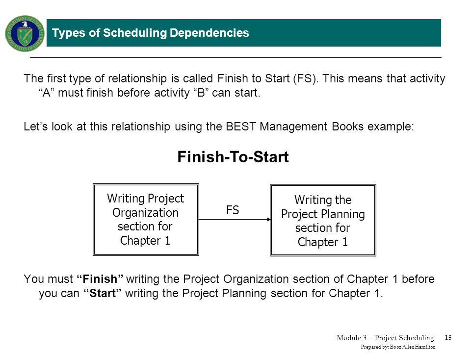 Types of Scheduling Dependencies