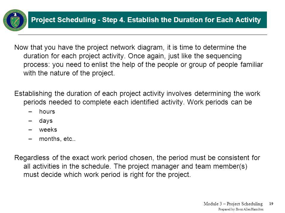 Methods for Determining Activity Duration