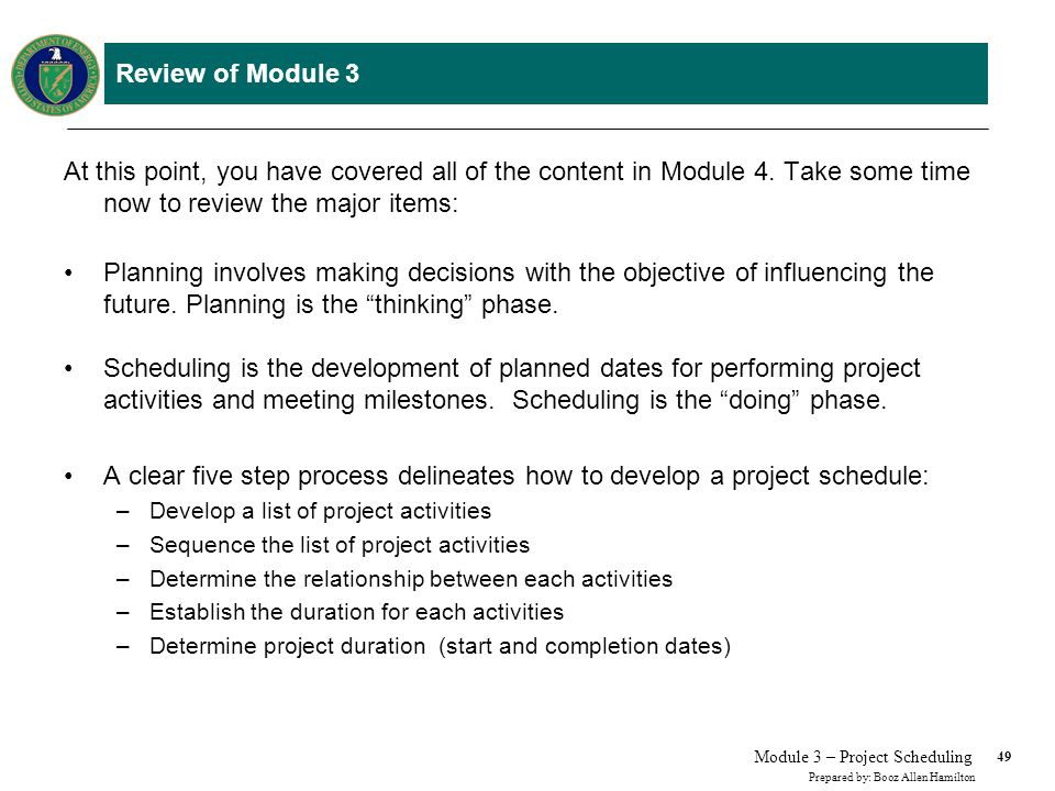 Review of Module 3
