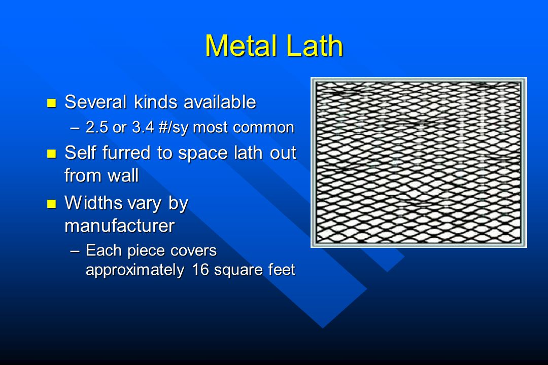 Metal Lath Several kinds available