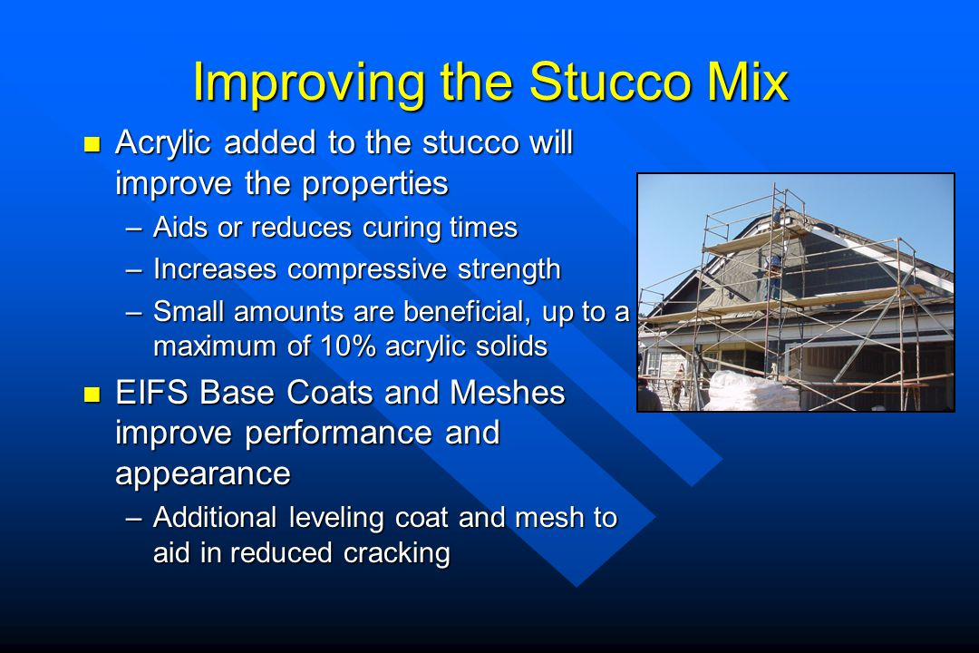 Improving the Stucco Mix