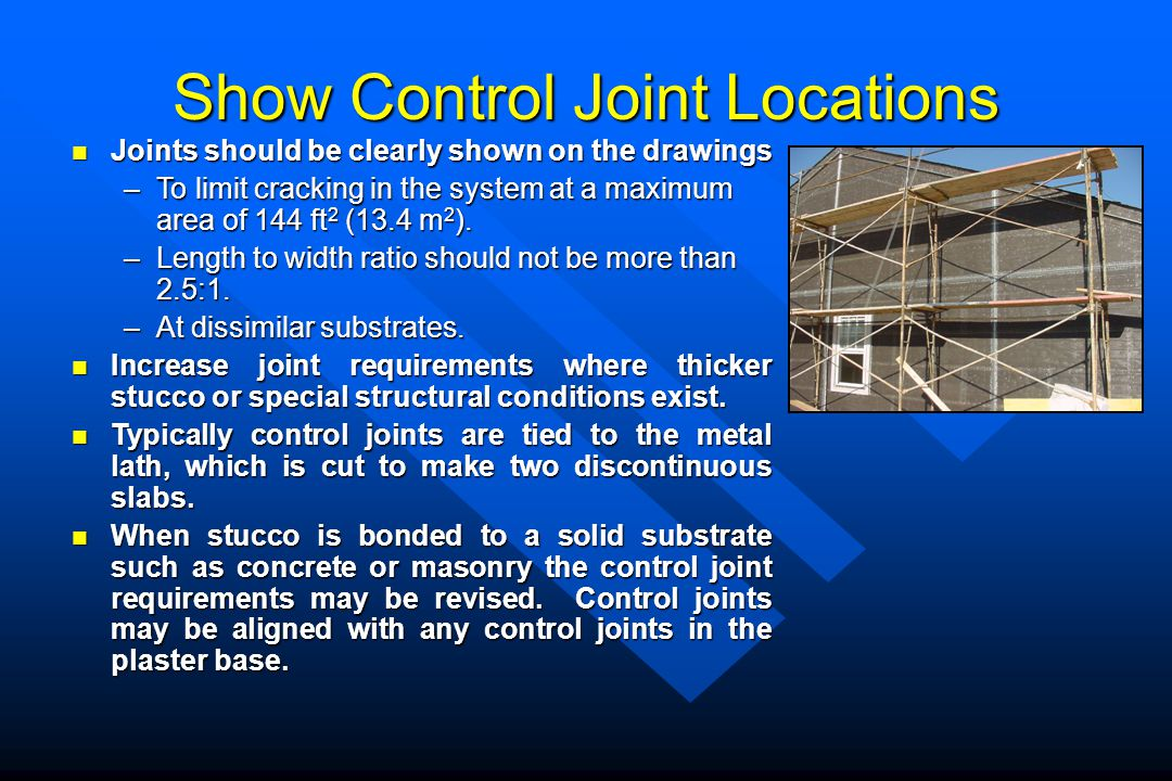 Show Control Joint Locations