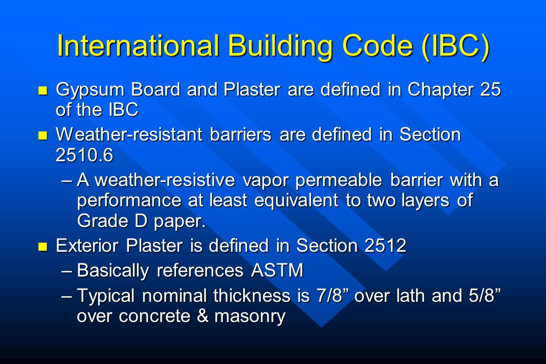 International Building Code (IBC)