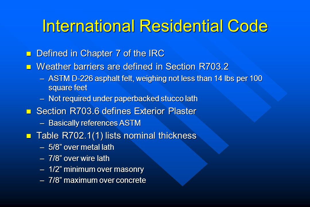 International Residential Code