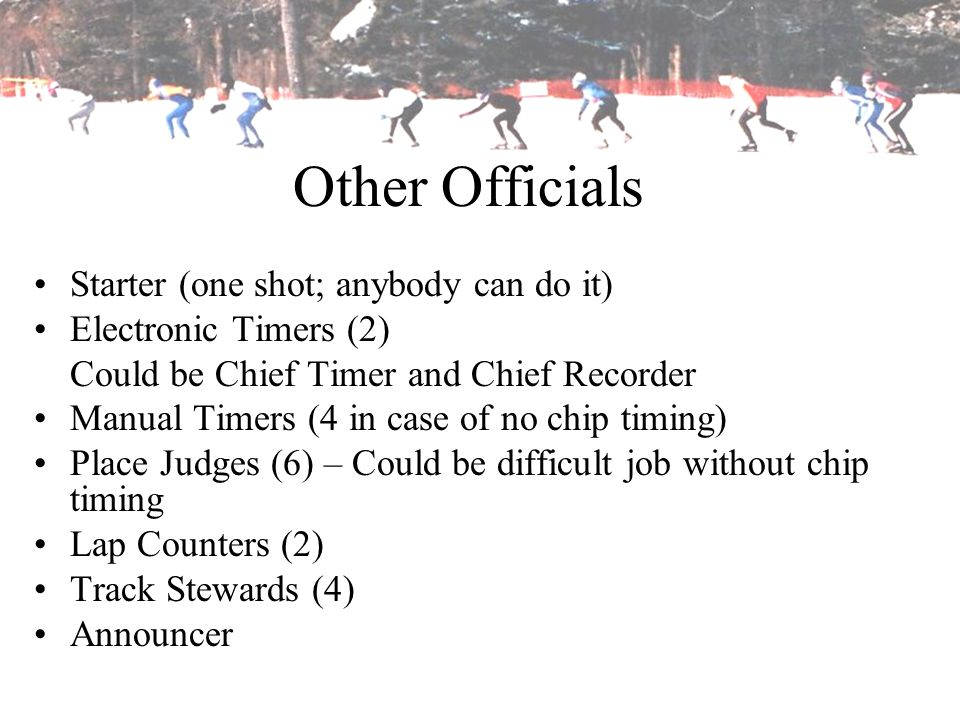 Other Officials Starter (one shot; anybody can do it)