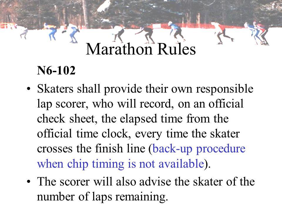 Marathon Rules N6-102.