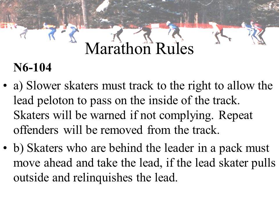 Marathon Rules N6-104.
