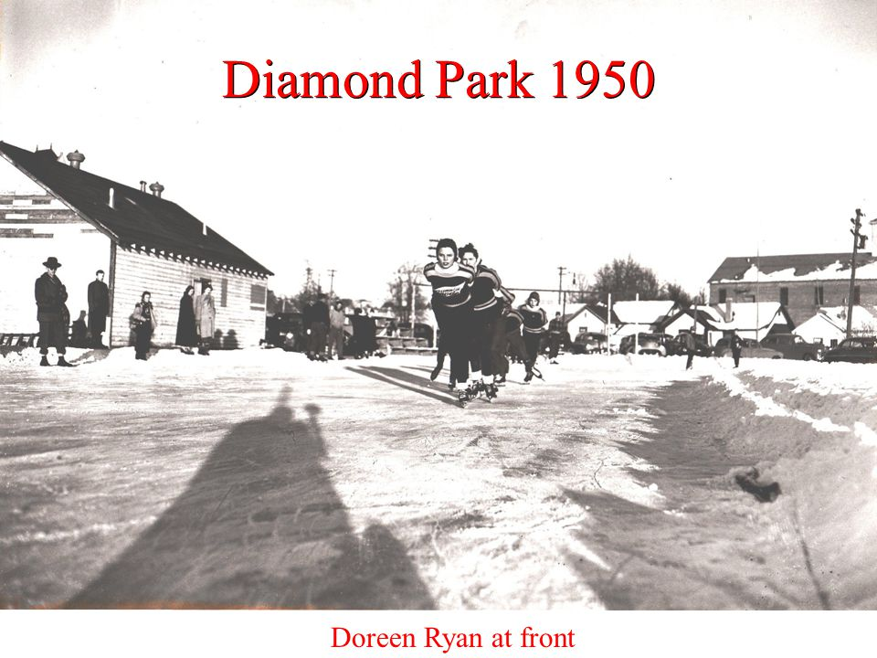 Diamond Park 1950 Doreen Ryan at front