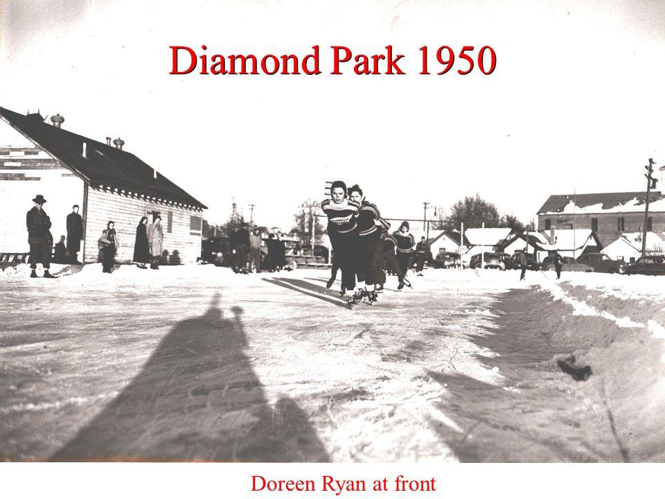 Diamond Park 1950 Doreen Ryan at front