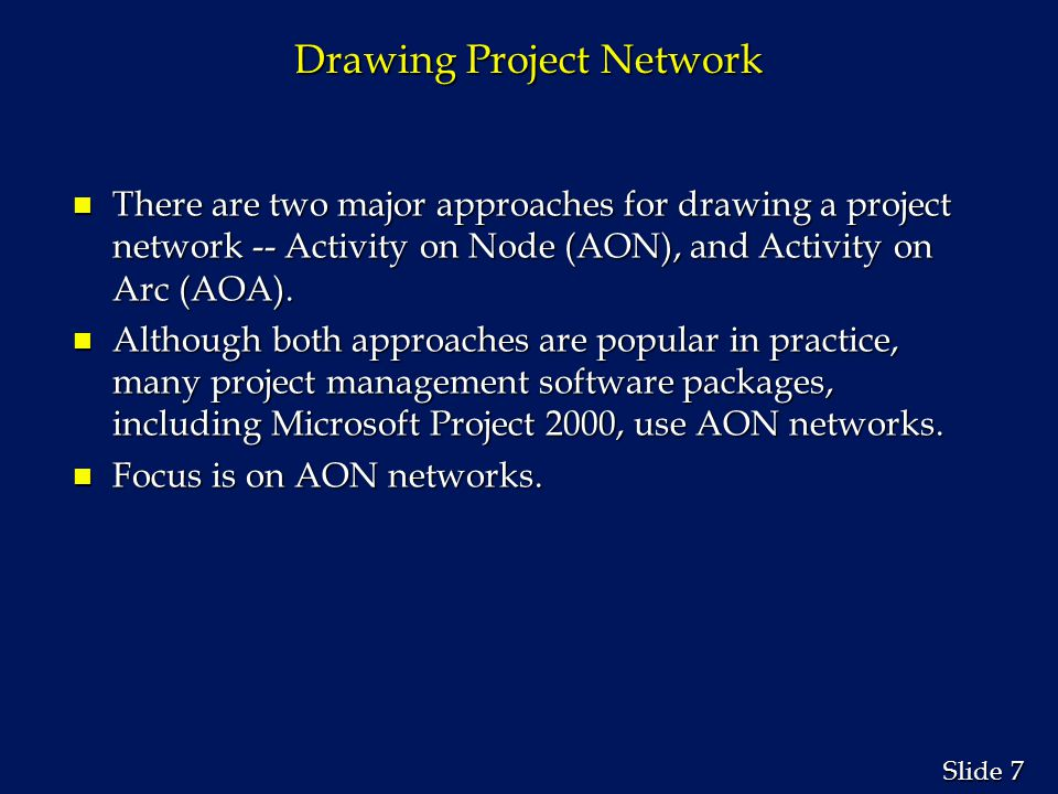 Drawing Project Network