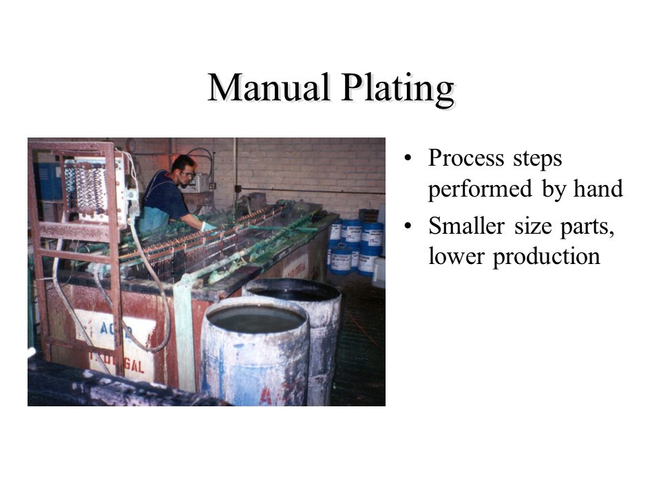 Manual Plating Process steps performed by hand