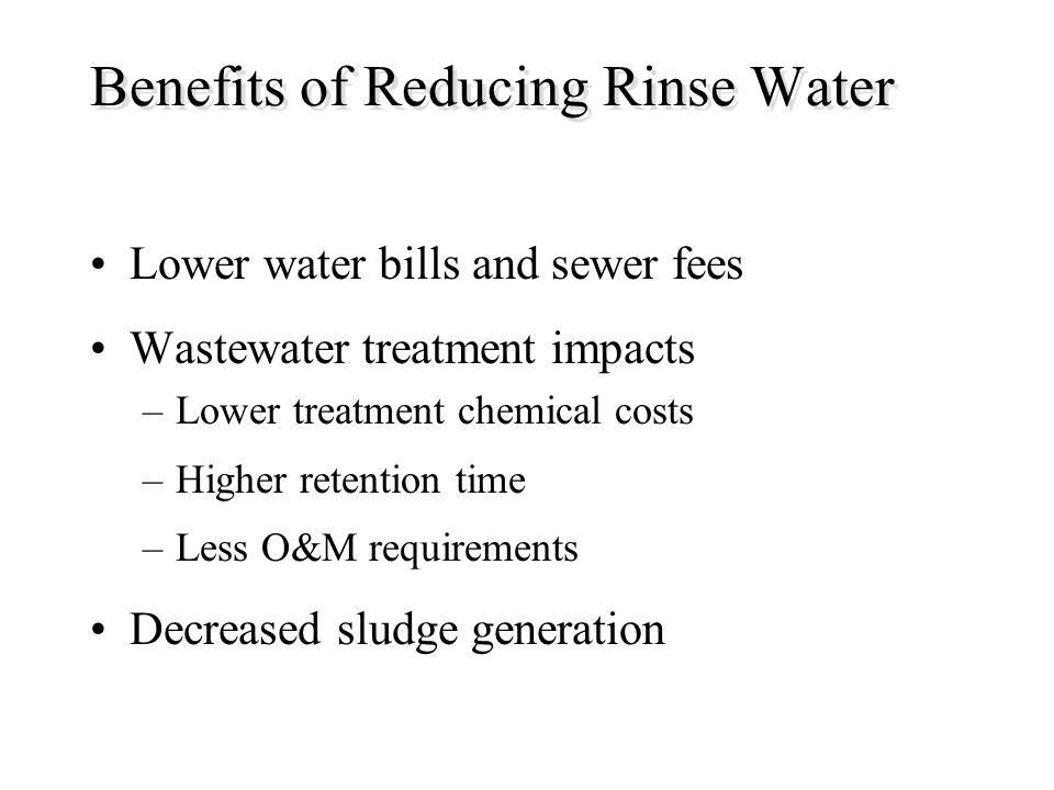 Benefits of Reducing Rinse Water
