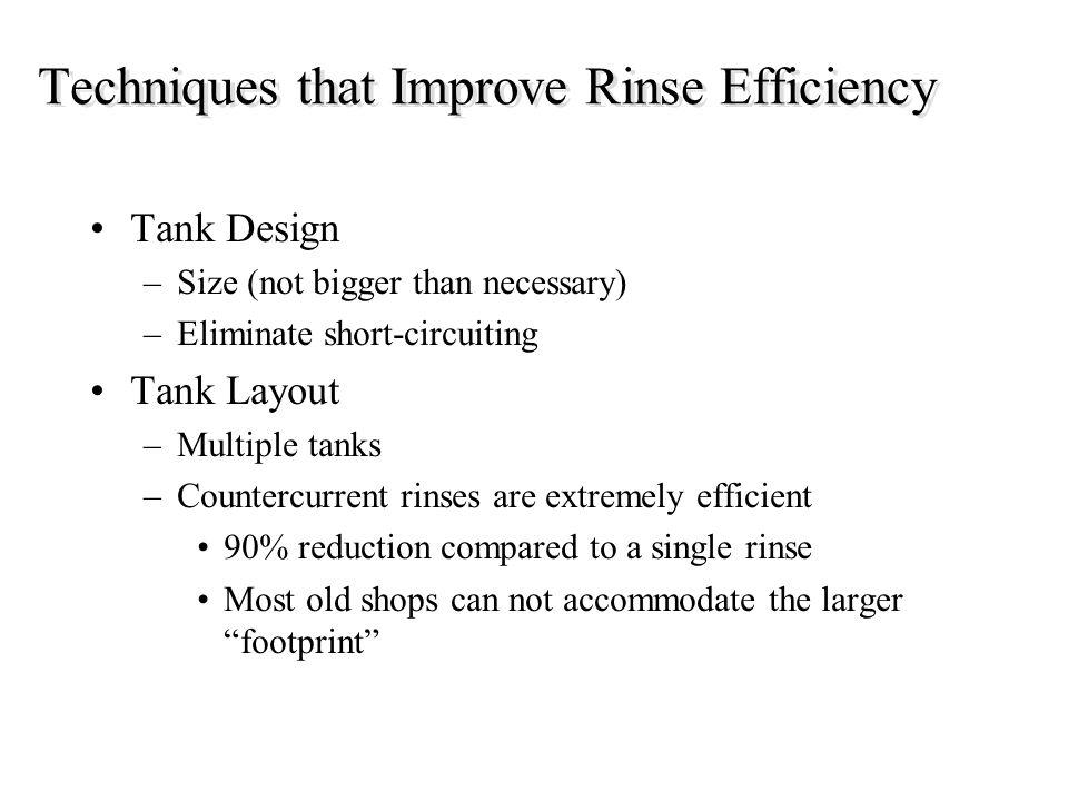Techniques that Improve Rinse Efficiency