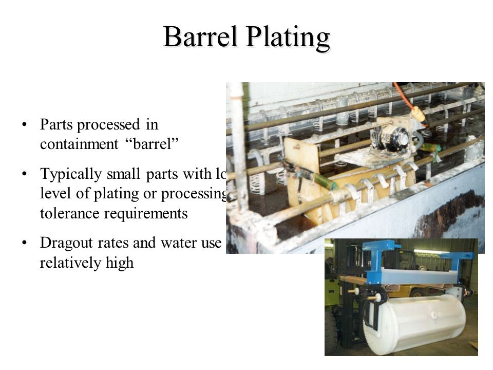 Barrel Plating Parts processed in containment barrel