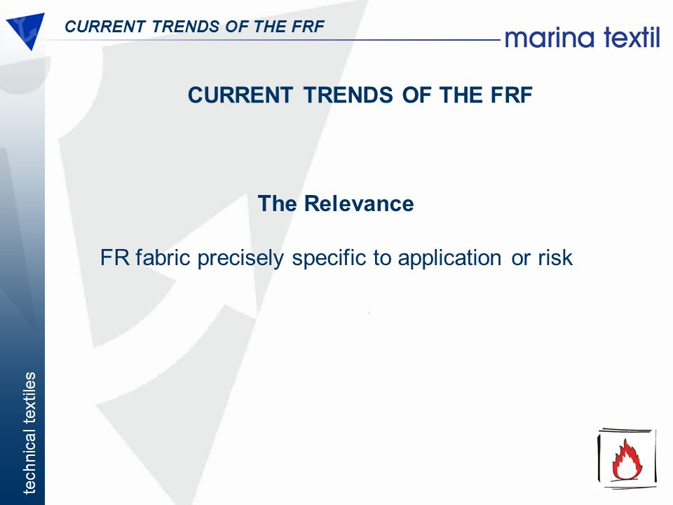 CURRENT TRENDS OF THE FRF