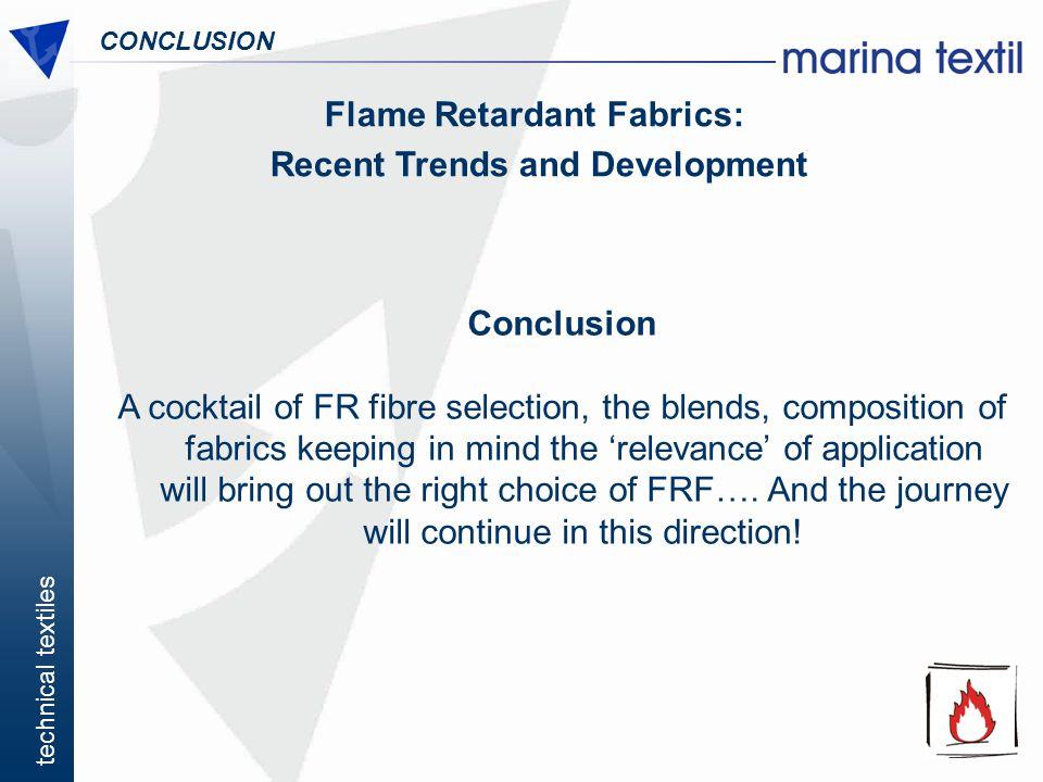 Flame Retardant Fabrics: Recent Trends and Development