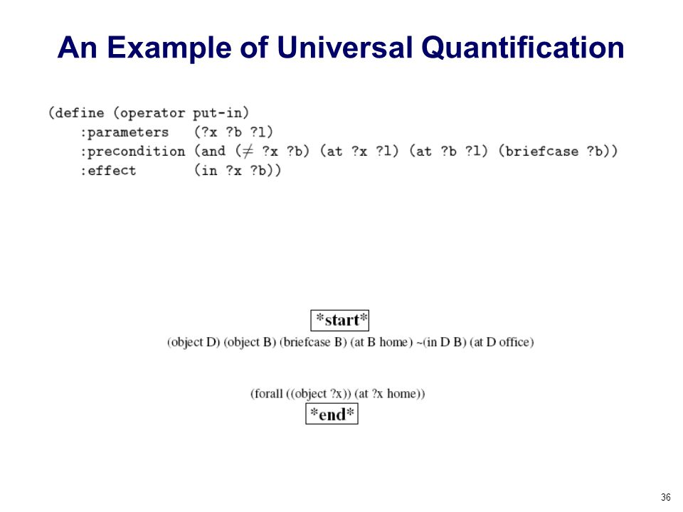 An Example of Universal Quantification