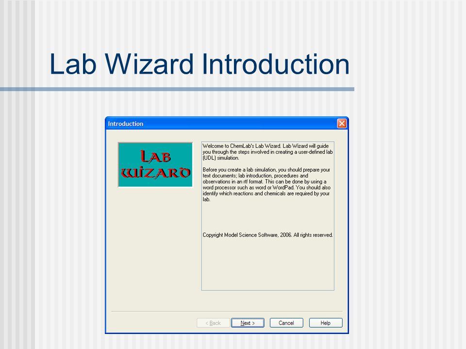 Lab Wizard Introduction