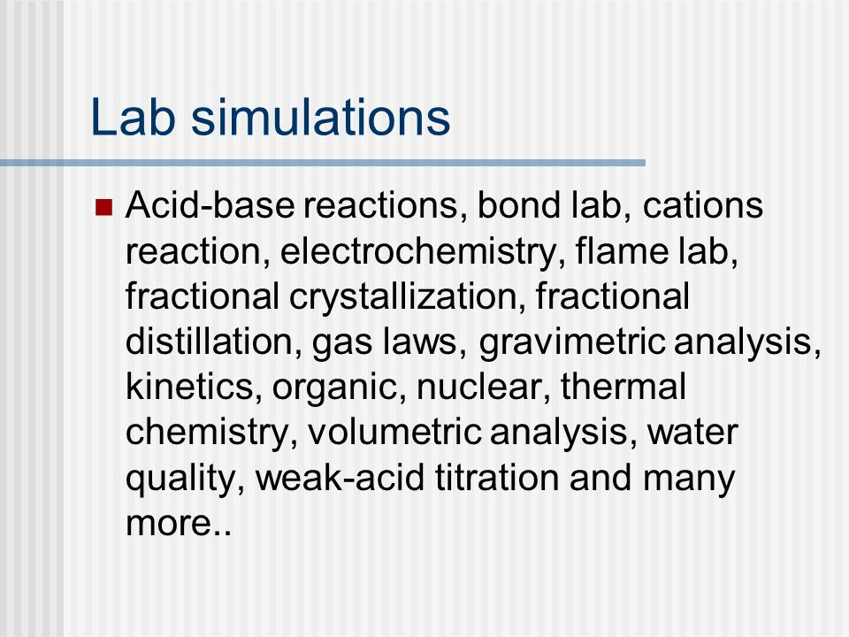 Lab simulations