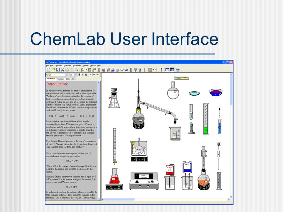 ChemLab User Interface