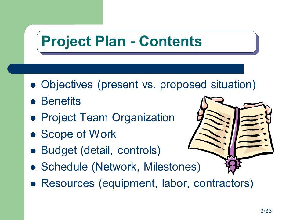 Project Plan - Contents