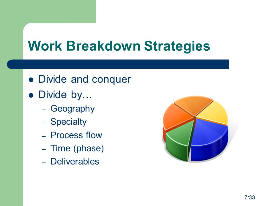 Work Breakdown Strategies