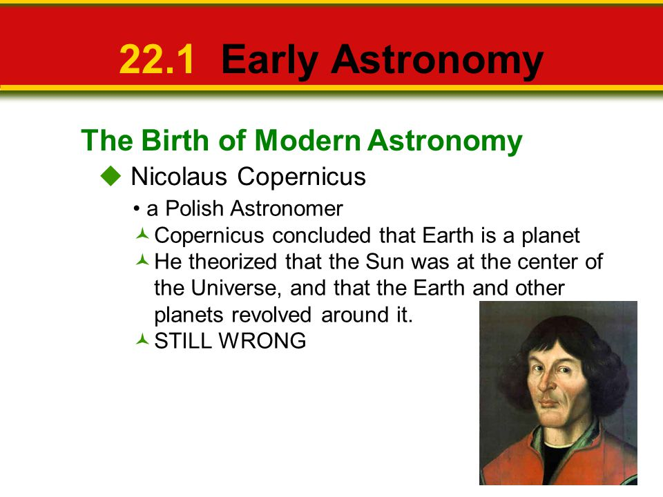 22.1 Early Astronomy The Birth of Modern Astronomy