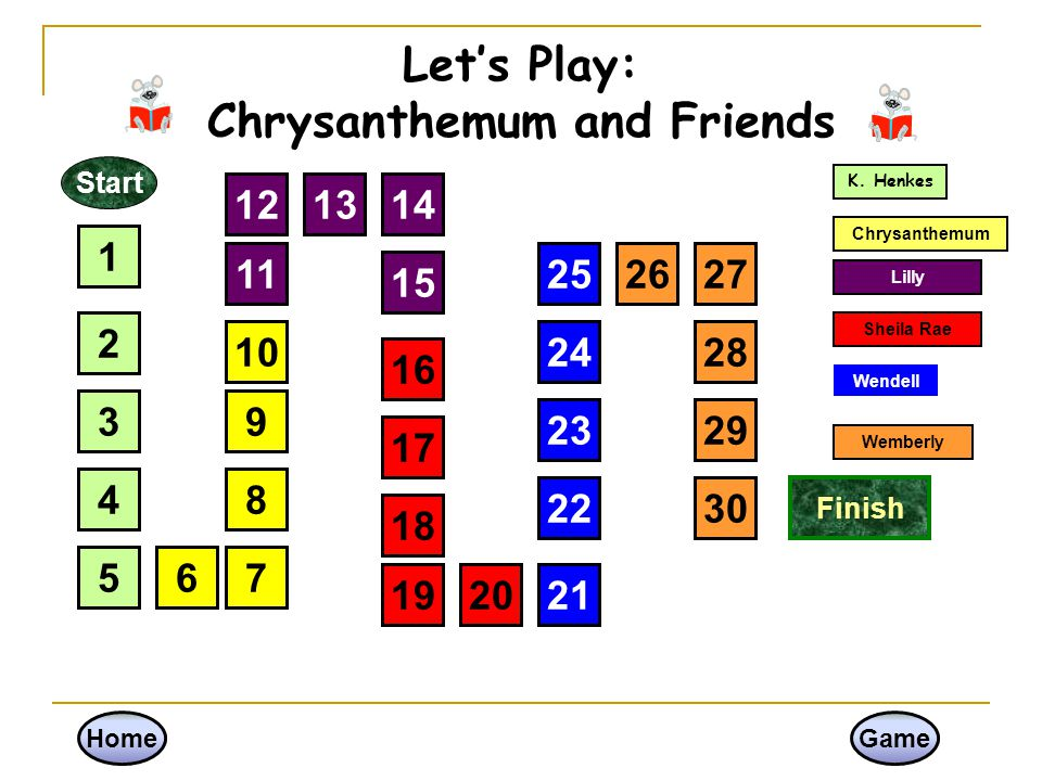 Let's Play: Chrysanthemum and Friends