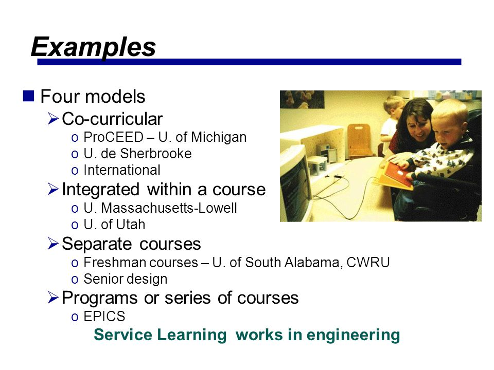 Service Learning works in engineering