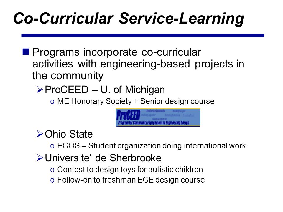 Co-Curricular Service-Learning