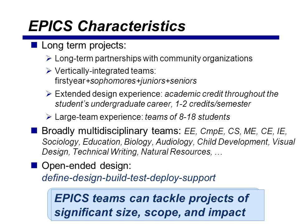 EPICS Characteristics