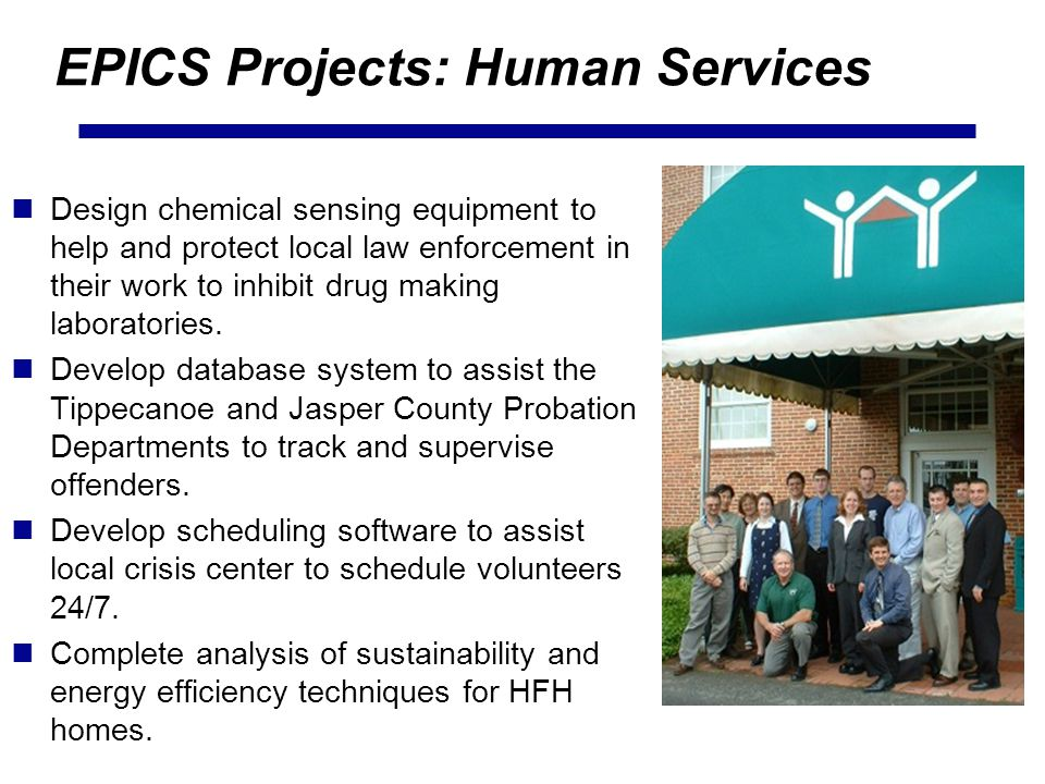EPICS Projects: Human Services