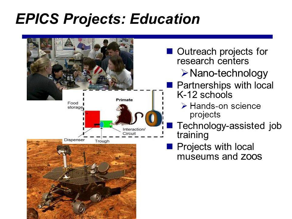 EPICS Projects: Education