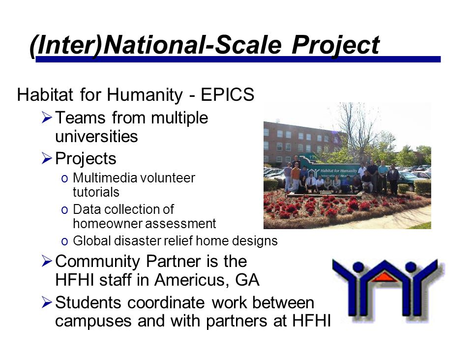 (Inter)National-Scale Project