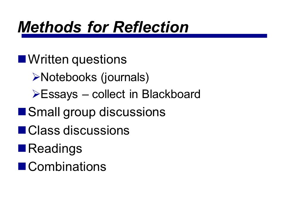 Methods for Reflection