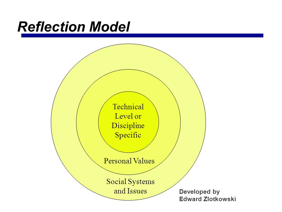 Reflection Model Technical Level or Discipline Specific