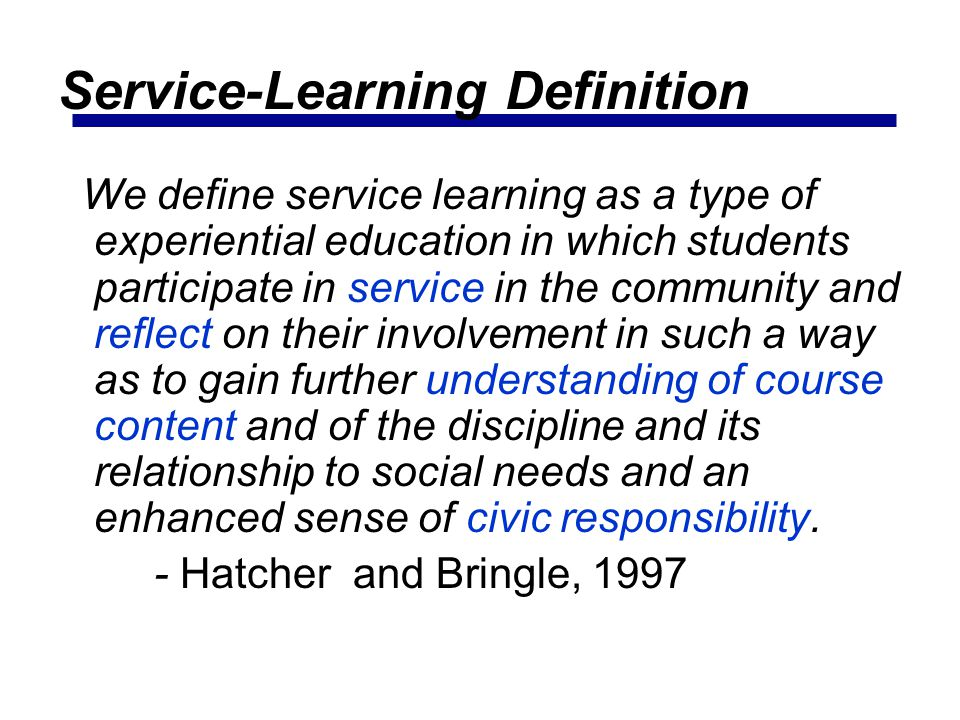 Service-Learning Definition