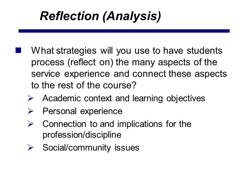 Reflection (Analysis)