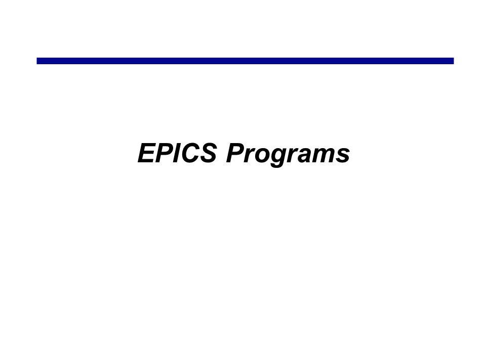 EPICS Programs