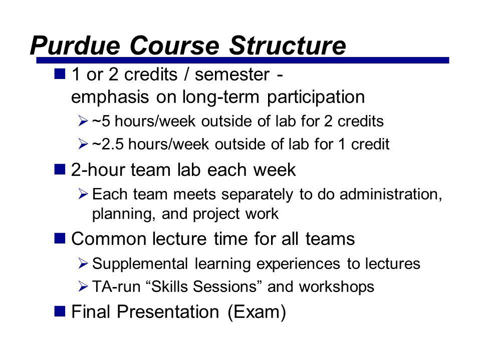 Purdue Course Structure