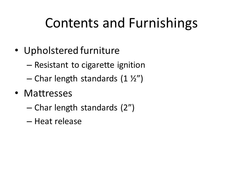 Contents and Furnishings