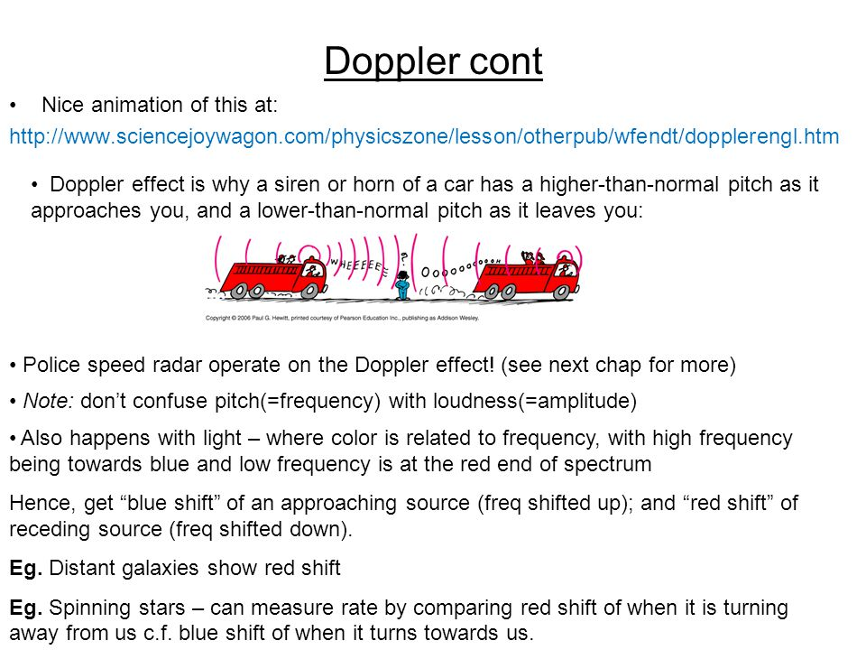 Doppler cont Nice animation of this at: