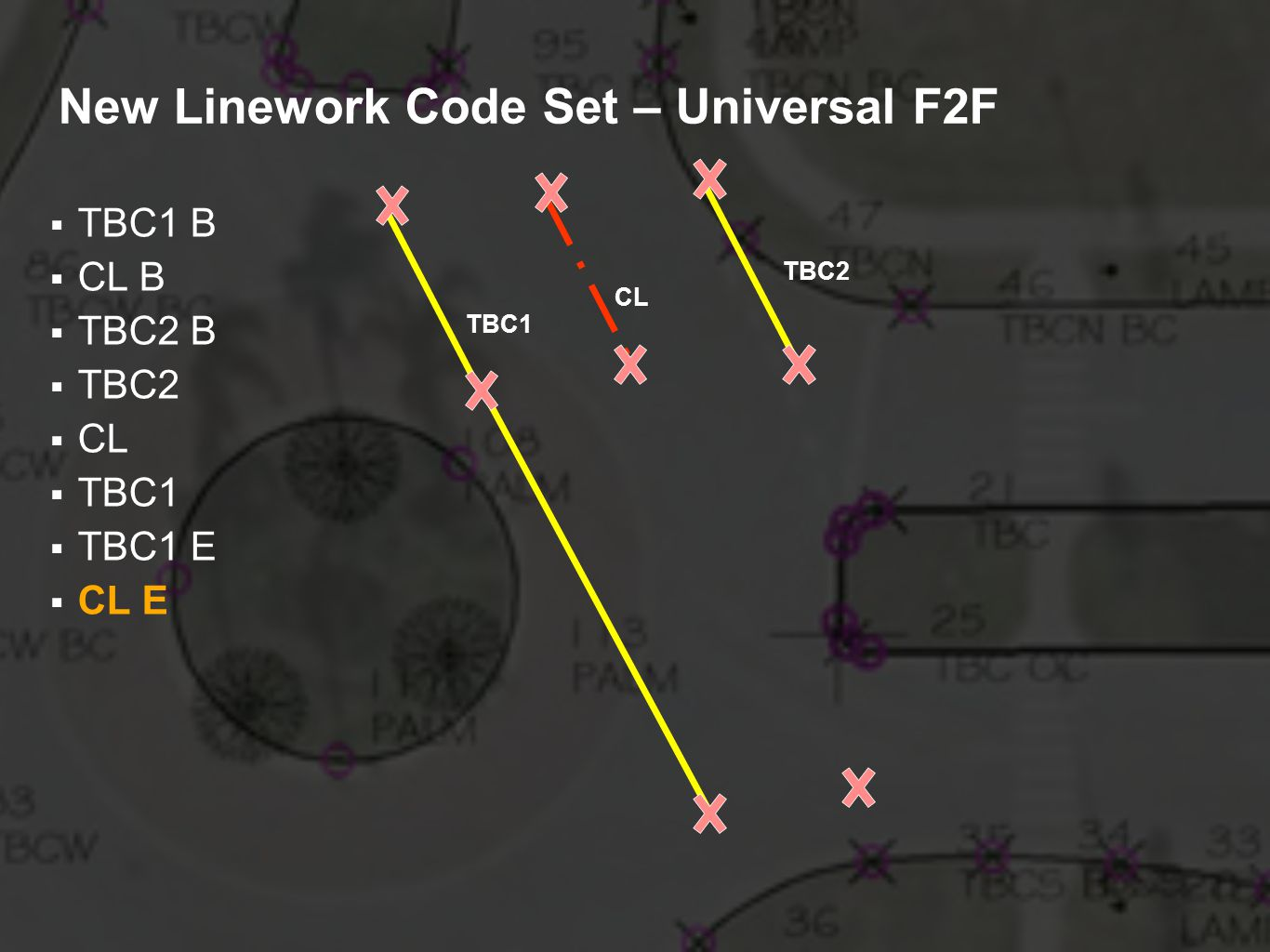 New Linework Code Set – Universal F2F