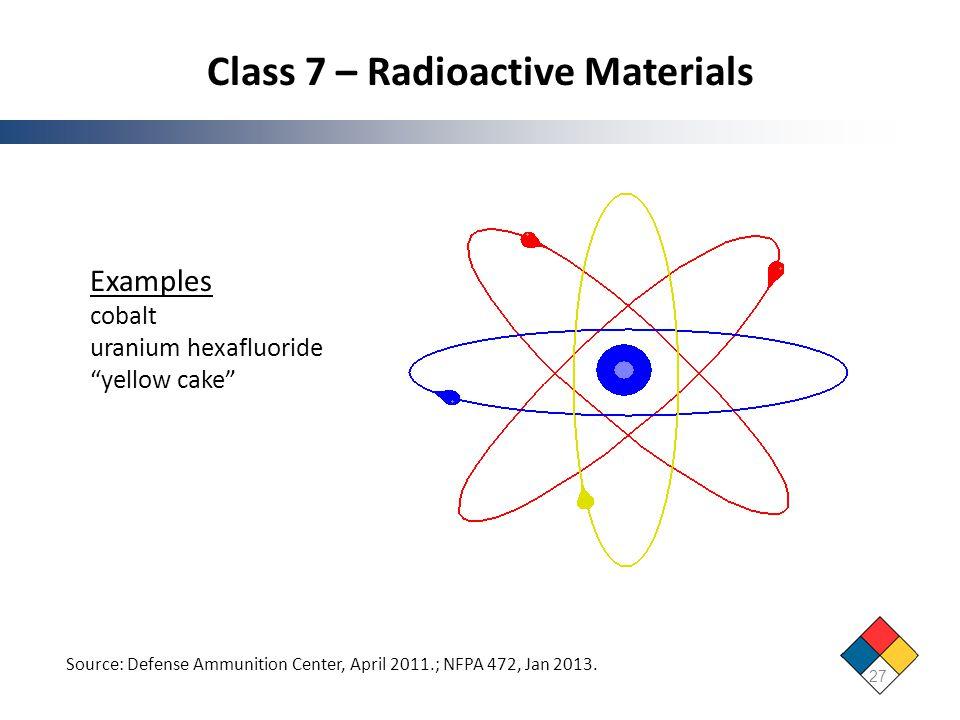 Class 7 – Radioactive Materials