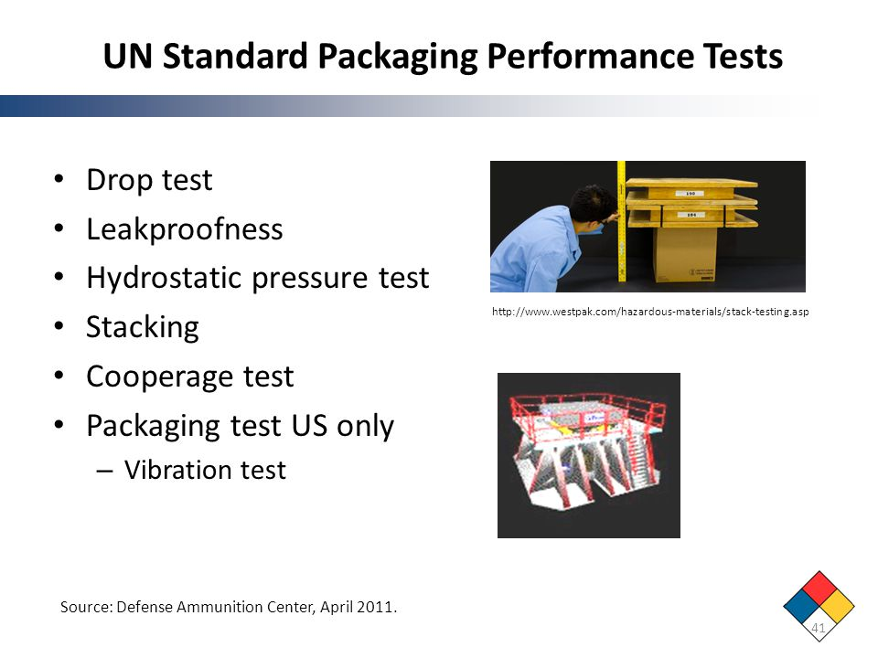 UN Standard Packaging Performance Tests