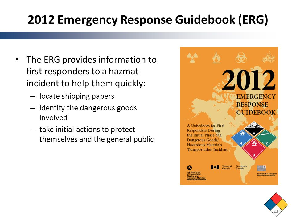 2012 Emergency Response Guidebook (ERG)